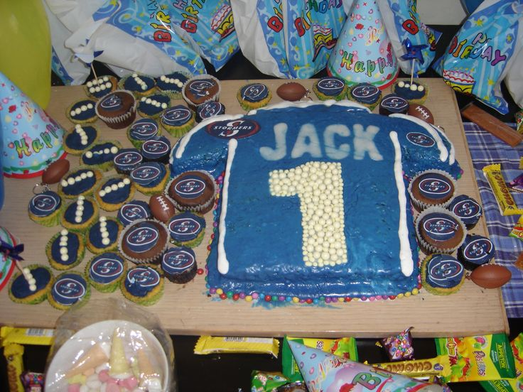 Stormers Rugby jersey, Jacks 1st Birthday cake. And my very first attempt at a kid's birthday cake, a lot has been learnt and improved on, especially fondant icing instead of regular icing, plastic and modelling icing too.