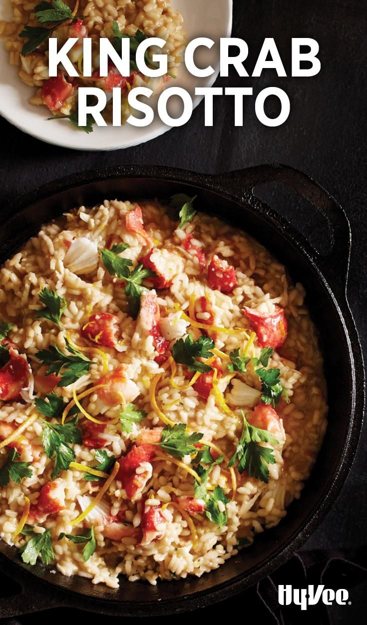 Making risotto for someone is an act of love (all the stirring!), so can you imagine how special people will feel when you serve King Crab Risotto? It's so rich and creamy.