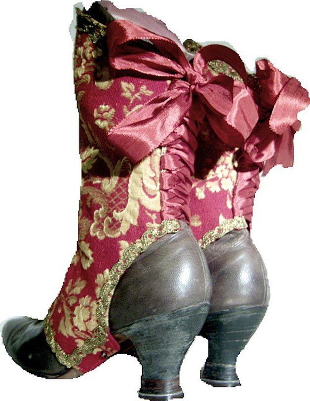 Gamaschen - Jugendstil Gamaschen...Victorian Spats - ein Designerstück von maide bei DaWanda