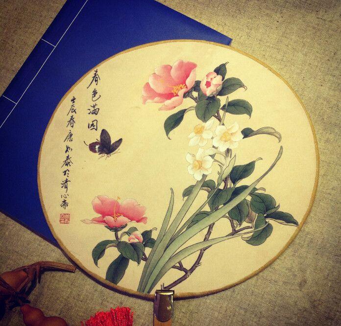 Ucuz Antik yollar geri rüzgar bambu kolu fan mahkemesi çin tarzı kostüm yuvarlak fan ipek kumaş fanı, Satın Kalite bambu el sanatları doğrudan Çin Tedarikçilerden: