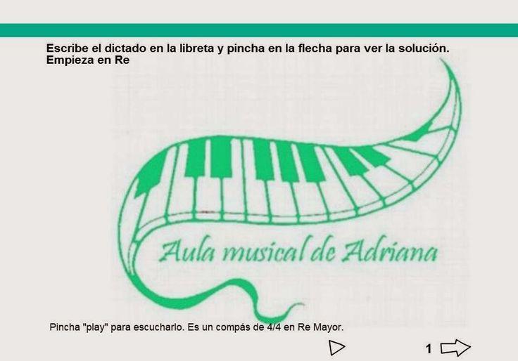 El aula musical de Adriana: dictados