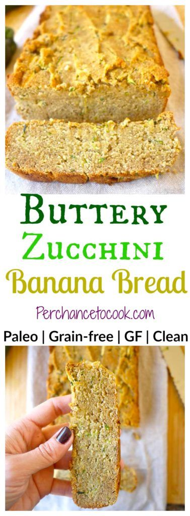 Buttery Zucchini Banana Bread (without butter!) (paleo, GF) | Perchance to Cook, www.perchancetocook.com