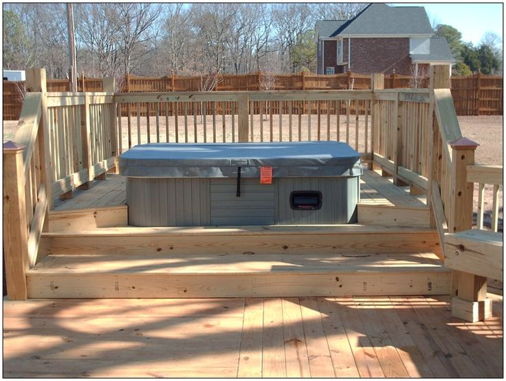 how to build a drop in tub deck