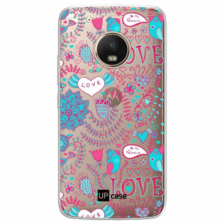 Capa Capinhas para Celular Moto G5 Plus Tela 5.2 Love Flores - UP Case - Exclusividade  - foto principal 1