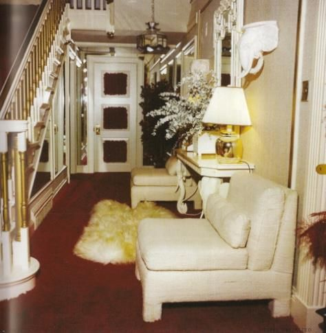 Foyer inside Graceland in 1977