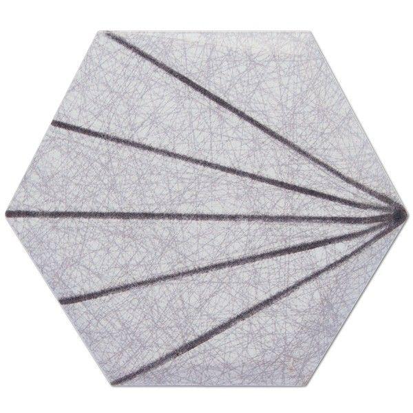 Kolekcja Hexagono Cuna - płytki ścienne Dec. Cuna Line Perla 17x15