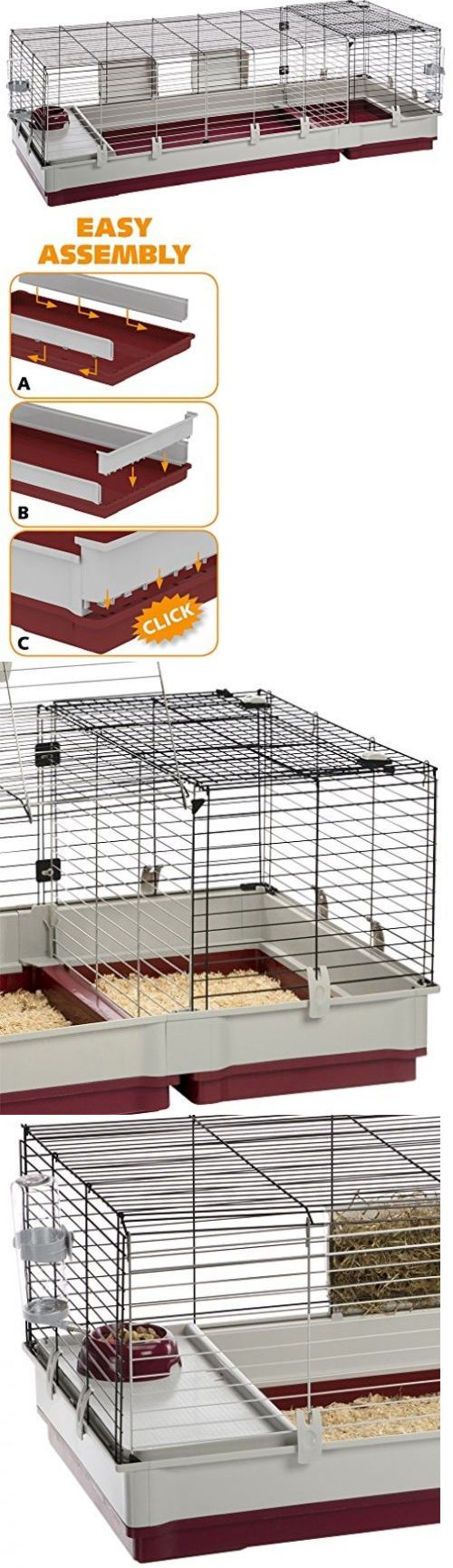 Cages and Enclosure 63108: Guinea Pig Cage Hedgehog Bunny Rabbit Chinchilla Extra Large Habitat Accessories BUY IT NOW ONLY: $185.95