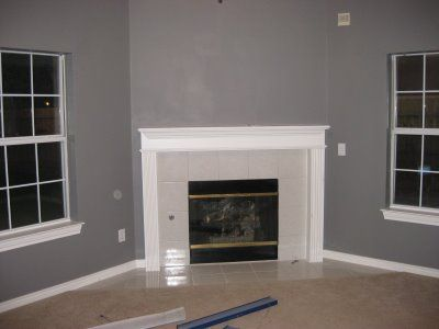 Gray And White Trim Living Room