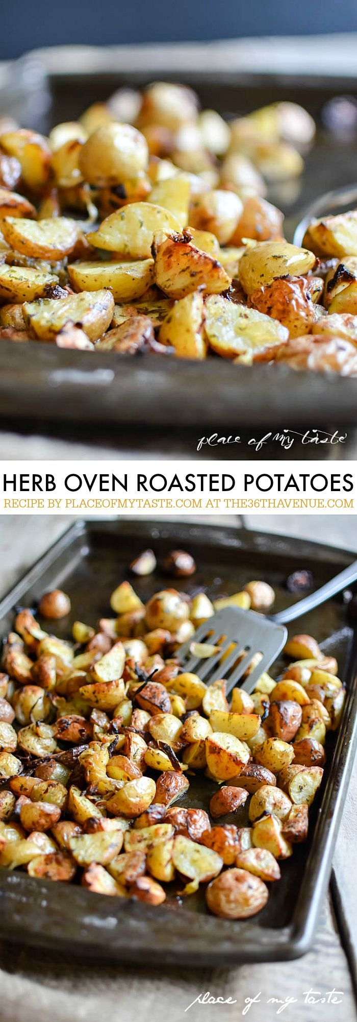 Recipes -  Herb Oven Roasted Potatoes by placeofmytaste.com