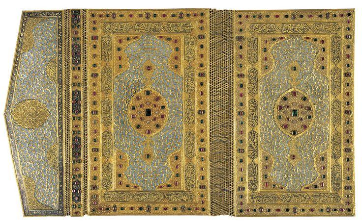 Gold Koran Cover pinned from http://www.turkishairlines.com/tr-tr/skylife/makaleler/2007/mayis/topkapi-sarayinda-altin