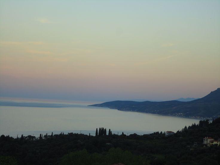 gazing the Aegean Sea from Kimi!