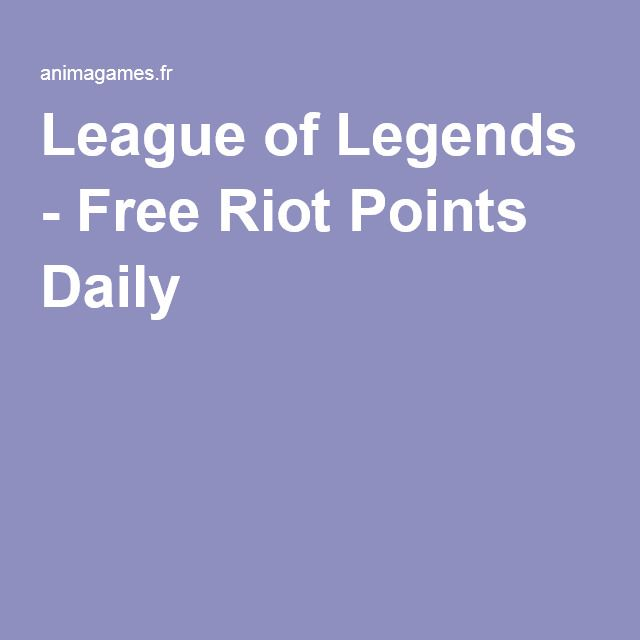 http://animagames.fr/lolriotpoints/ League of Legends - Free Riot Points Daily