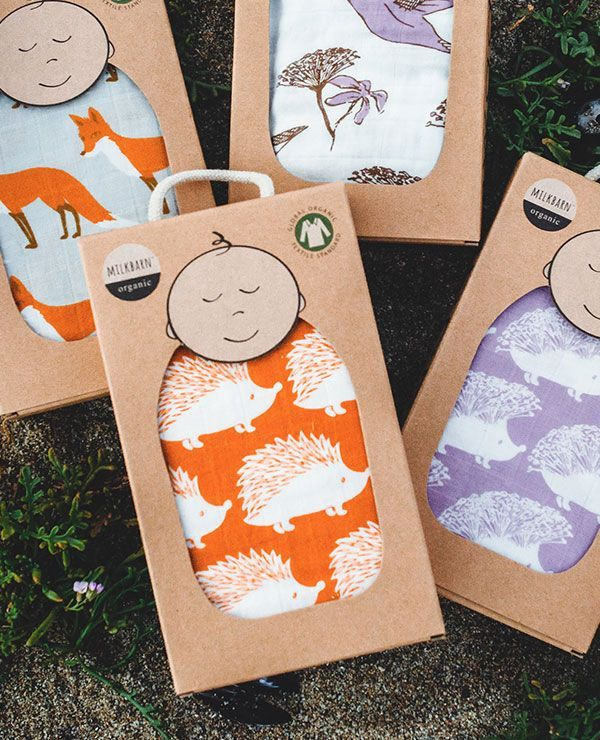 """MUSLIN SWADDLE SPRING 2015 Made with GOTS cetified Organic Cotton. Packaged in a kraft gift box. Imported. Measures 47"""" x 47"""""""