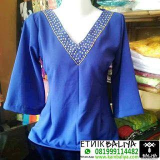 Kebaya Kimono Jepang Murah Warna Biru | Whatsapp/Hp : 081999114482 (XL) - Kain Endek Bali