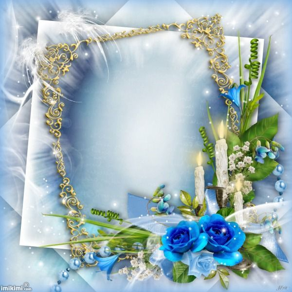 Click to add a photo to this blue frame