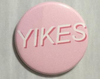 Aesthetic buttons, Yikes, 1×3/4 inch