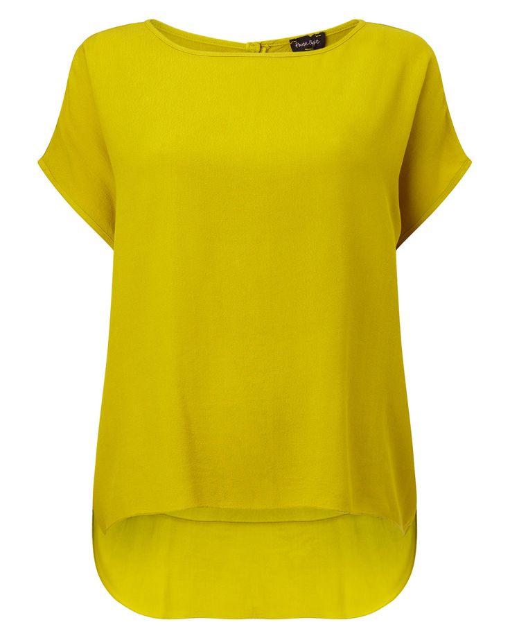 Phase Eight Lana Crepe Blouse Yellow