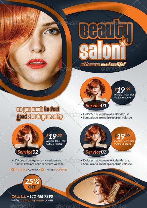 Best  Beauty Salon Flyer Templates Images On   Ai