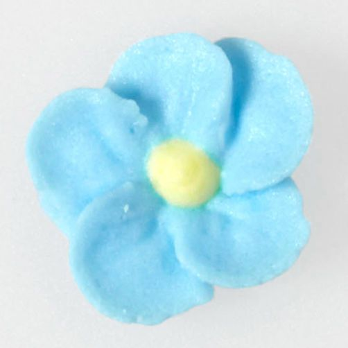 Create a small Forget-Me-Not using tip 101s
