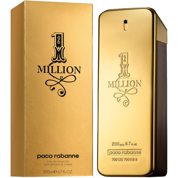 Paco Rabanne 1 Million Eau De Toilette 200ml ($97) ❤ liked on Polyvore featuring men's fashion, men's grooming, men's fragrance and paco rabanne