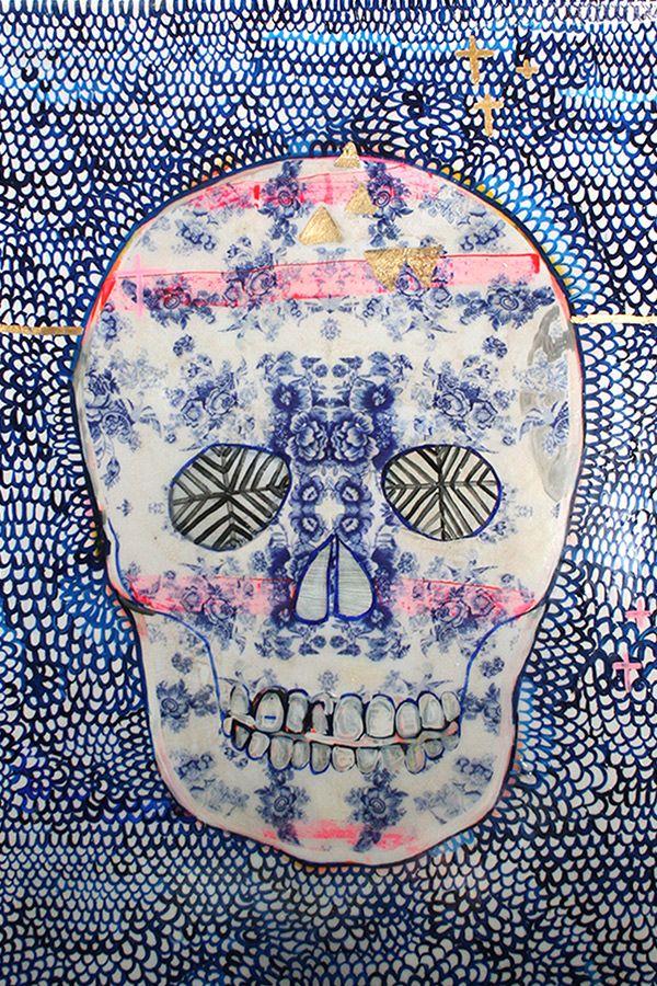 Paradiso - Tea China Skull by Jai Vasicek
