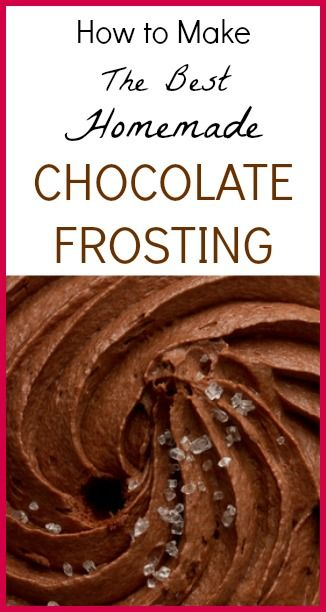 The Best Homemade Chocolate Frosting!!!