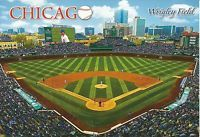 Vintage Chicago Cubs Bears Wrigley Field Baseball Stadium Postcard