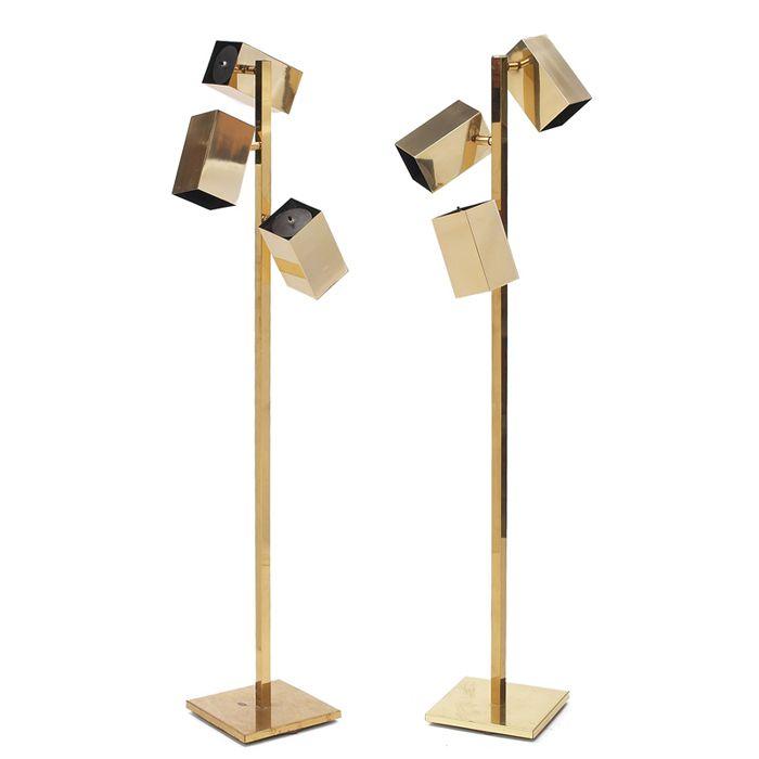 Anonymous, Brass Floor Lamps for Koch  Lowy, 1950s.