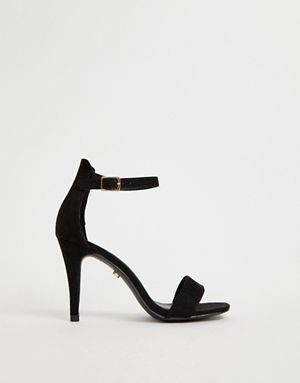 acb198f03d3 Oasis barely there heeled sandals in black