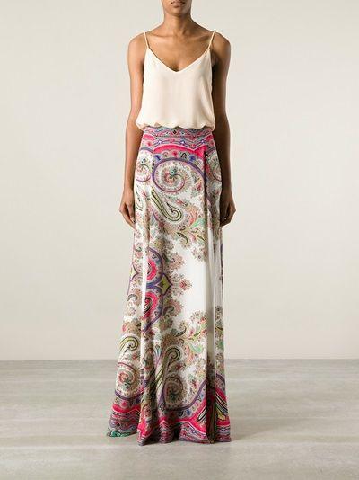 ETRO - printed maxi skirt 7
