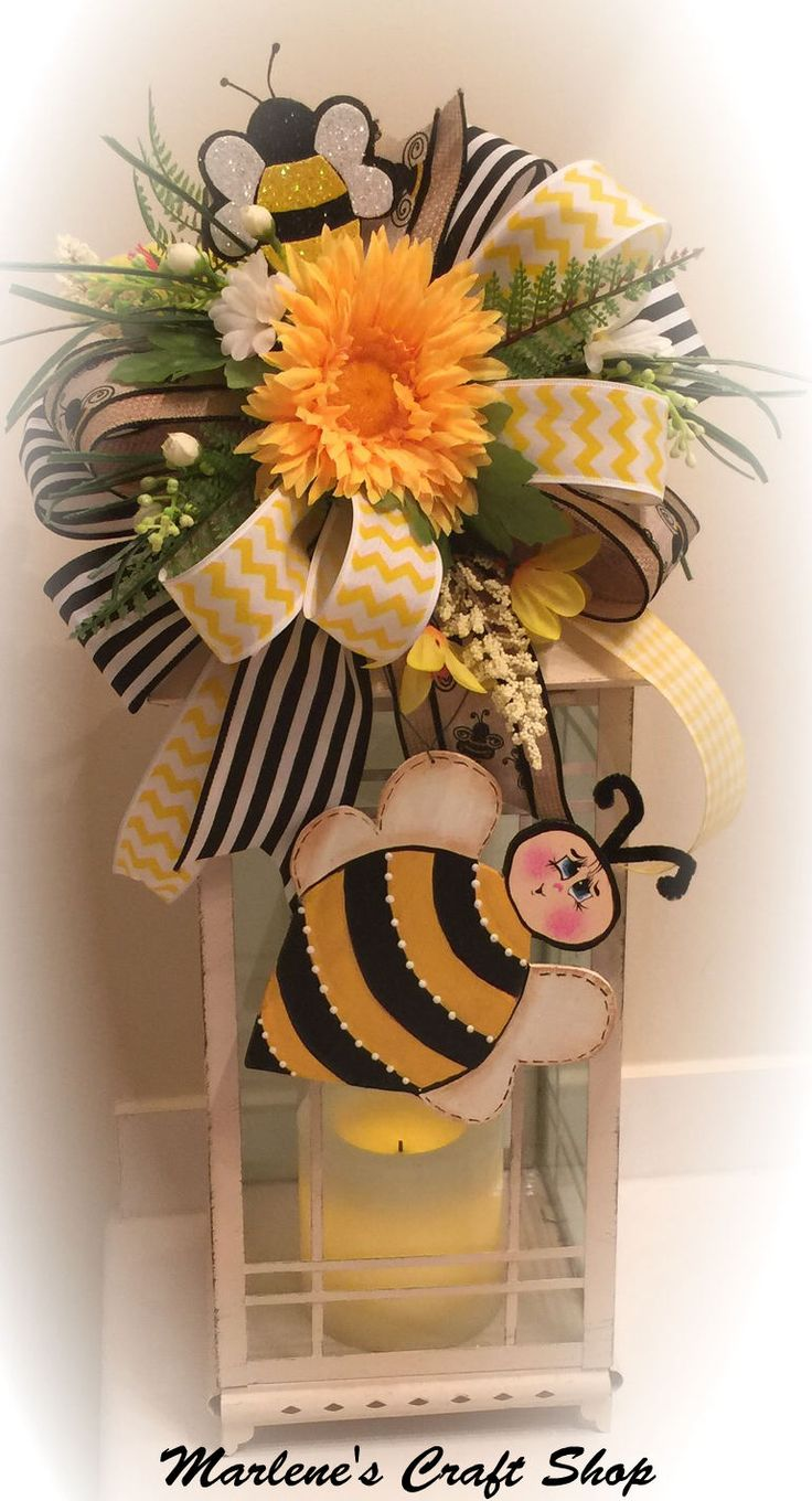 Spring Summer Lantern Swag Bee Bumble Decoration Theme