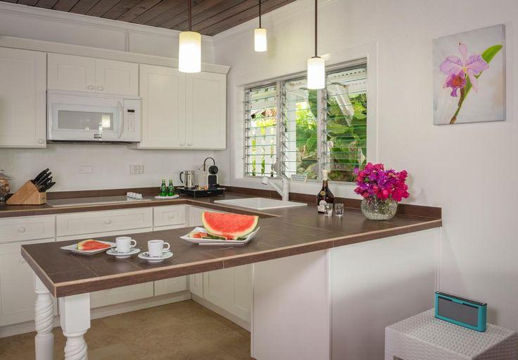 Kitchen: all new cabinets, appliances, tiles, lights, new ceiling & fresh coat of paint! #saba #visitsaba #julianashotel #remodel #renovation #makeover #orchid #orchidcottage