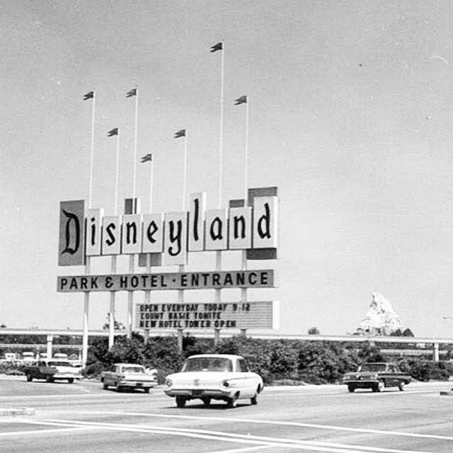 Disneyland entrance, early 1960s