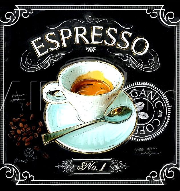 #Chalkboard #Espresso #Coffee art  ToniK ⊱CհαƖҜ ℒЇℕ℮⊰  www.art.com/products/p18267794874-sa-i7103407/chad-barrett-coffee-house-caffe-latte.htm