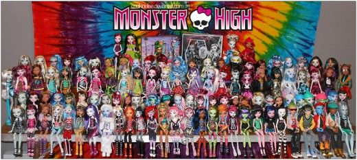 monster high dolls list complete characters names