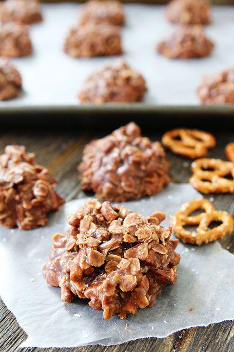 No-Bake Chocolate Peanut Butter Pretzel Cookies Recipe