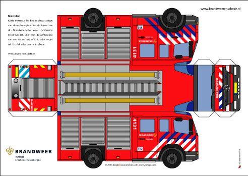bouwplaat brandweerauto - Google zoeken