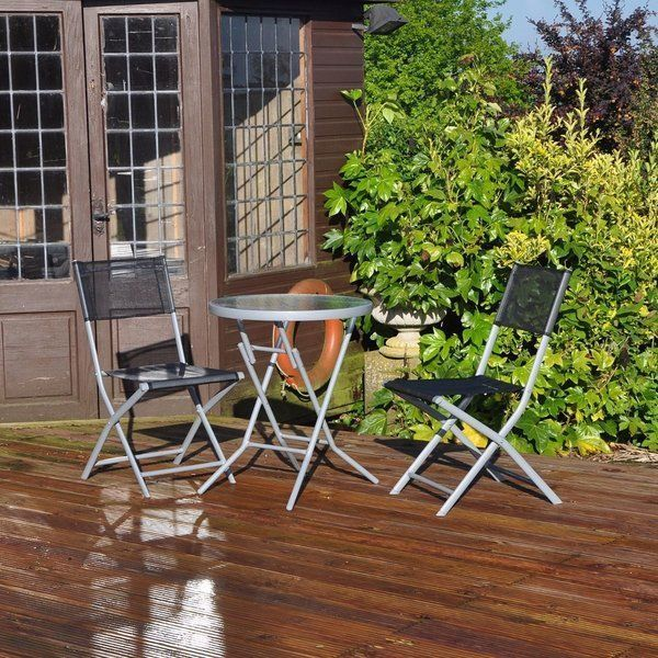 garden table chairs patio outdoor furnitures glass table deck set