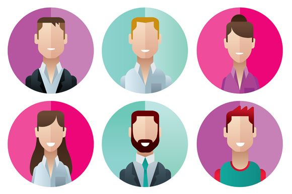 profile icons office people by Andres Moncayo on Creative Market