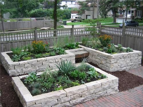 Best 25+ Stone raised beds ideas on Pinterest Potager garden - raised bed garden designs