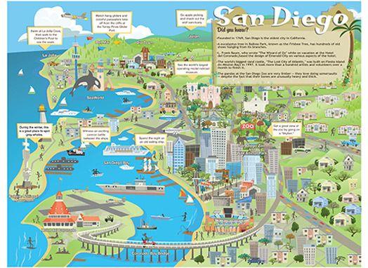 San Diego Travel Map, an essential! #EpicSummerRun #MapMummy totwoboys1