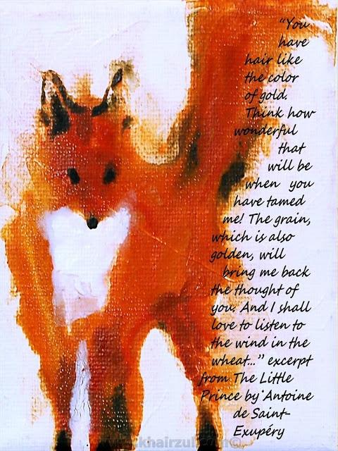 Antoine De Saint Exupery.  Little Prince fox.