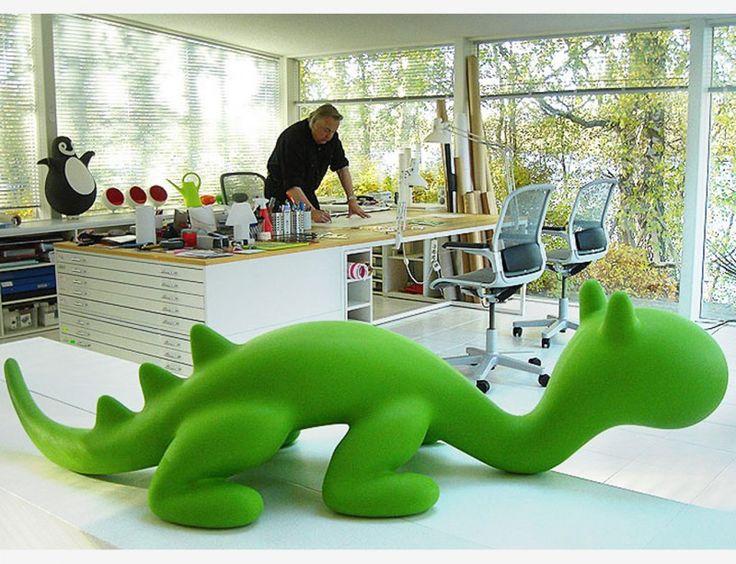 Dino van Eero Aarnio, groen - speelgoed - kindermeubel - design   olijkenvrolijk.nl