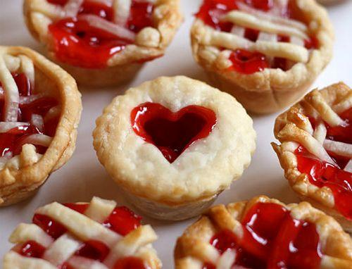 : Desserts, Minis Pies, Idea, Mini Cherry Pies, Minis Cherries Pies, Food, Mini Pies, Valentines Day, Muffins Tins Recipes