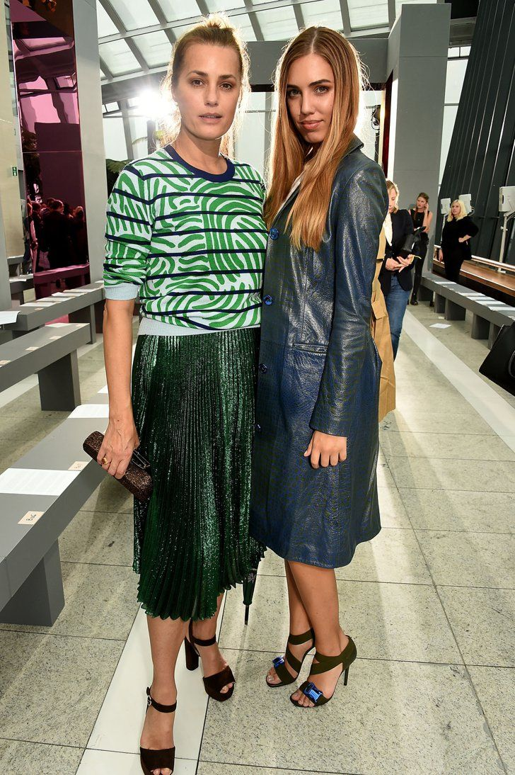 Pin for Later: Celebrities Were Sitting Pretty in the London Fashion Week Front Row Yasmin Le Bon and Amber Le Bon Yasmin and Amber were in attendance at the Christopher Kane show.