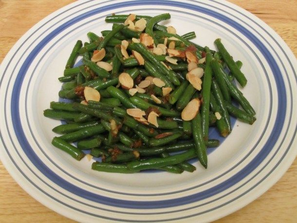 Sauteed Garlic-Ginger Green Beans with Roasted Almonds; image via The ...