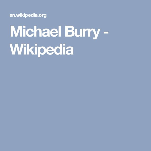 Michael Burry - Wikipedia