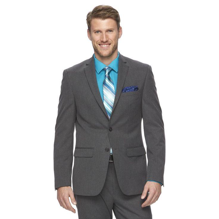 Men's Van Heusen Flex Slim-Fit Suit Jacket, Size: 48 - regular, Light Grey