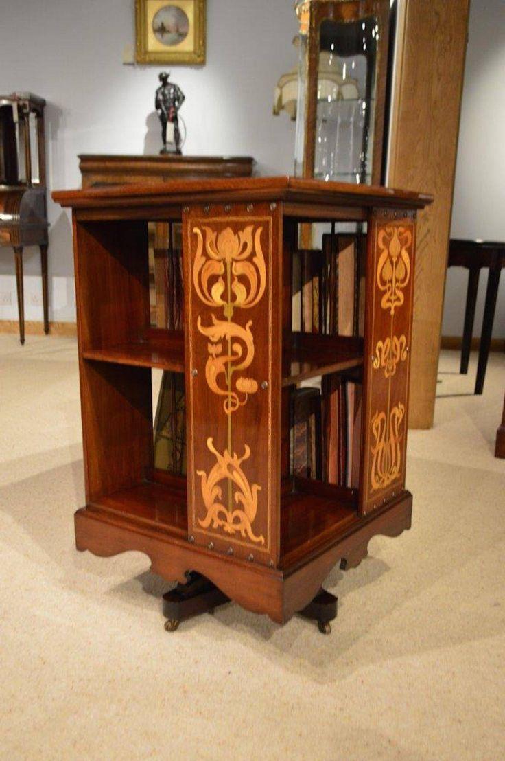 Arts & Crafts Mahogany Revolving Bookcase By Shapland & Petter Of Barnstaple