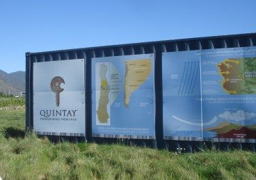 The first station in the winery and vineyard tour of Quintay in Chile's Casablanca Valley